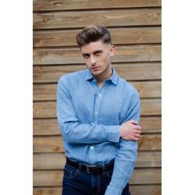 United Lectoure's Blue man shirt 100% linen