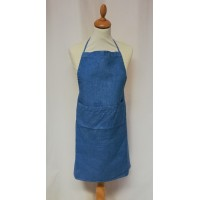 Cooking apron 100% linen by Lectoure's Blue
