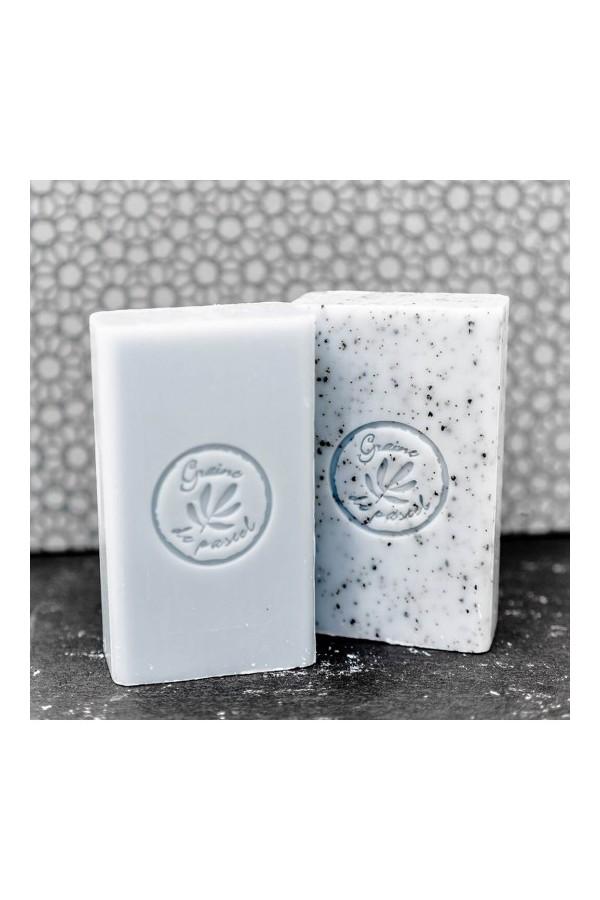 Cube de savon surgras de 125g à l'huile de pastel véritable, couleur Bleu Alazado