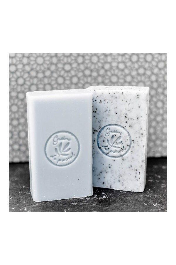 Cube of soap surgras 125g with real pastel oil, color Blue Alazado