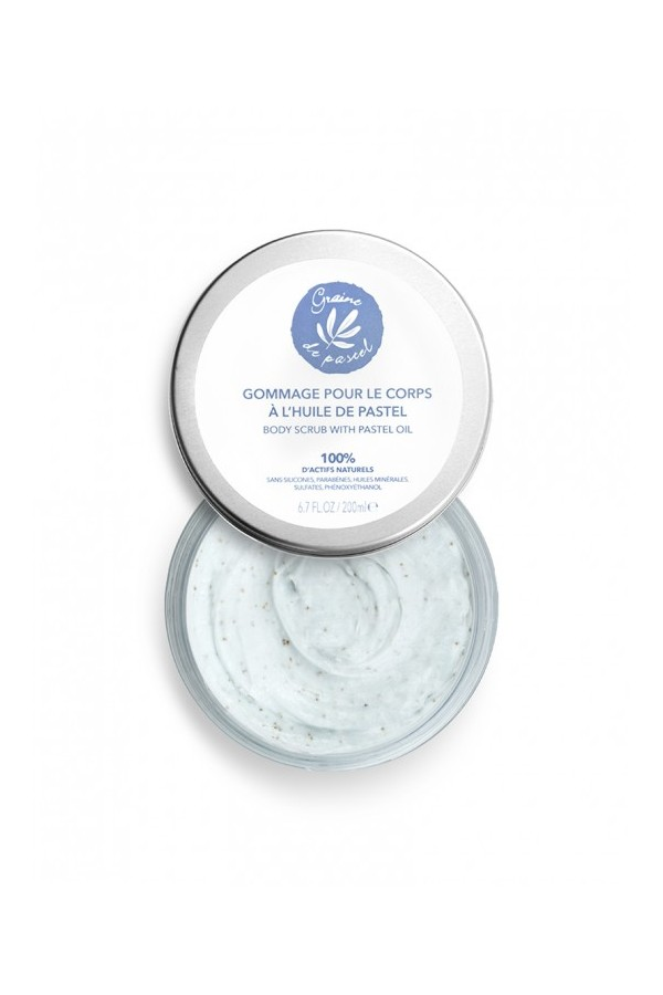 Exfoliating scrub for body with rich pastel oil, 200ml contenance