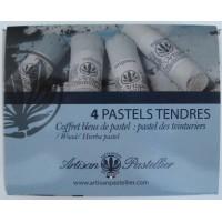 Box of 4 soft pastels color blue charron (Isatis Tinctoria)