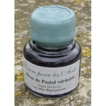 Blue woad genuine ink with pastel pigment (Isatis Tinctoria)